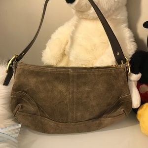 Coach Purse- Small Light Brown/Tan Suede